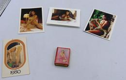 4 Mini Calendrier De Femme Nu + Mini Carte A Jouer De Femme Nu - Autres
