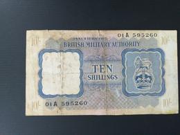 BRITISH MILITARY 10 SHILLINGS 1943 - British Military Authority