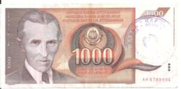 BOSNIE HERZEGOVINE 1000 DINARA ND1992 VF P 2 - Bosnia Erzegovina