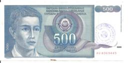 BOSNIE-HERZEGOVINE 500 DINARA ND1992 VF P 1 - Bosnia Erzegovina