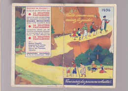 Calendrier Petit Format / 1936 Laboratoires Pautauberge - Petit Format : 1921-40