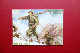 Cartolina Originale 6° Reggimento Alpini Battaglione Val Venosta Viaggiata 1940 - Regimenten