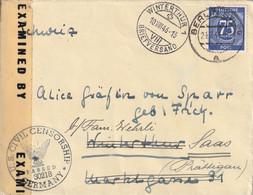 Allemagne Zone AAS Lettre Censurée Berlin Pour La Suisse 1946 - American,British And Russian Zone