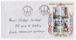 Bloc Feuillet YT BF10 - Personnages Célèbres De La Révolution Sur Enveloppe Oblitérations Inauguration PhilexFrance 1989 - Used