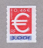 """France 1999 Auto-adhésif Neuf YT 3215 Ou YT 24 """"Le Timbre Euro"""" Provenant De La Bande-carnet BC3215A Ou BC24 - Adhesive Stamps"""