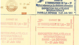 FRANCE- 4 SUPERBES CARNETS NEUFS * * FERMES -PHILEXFRANCE- N°2155-C1-N°2102-C6-9- ET 2 CARNETS N°2102-C8 DE 1981 - Definitives