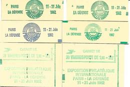 FRANCE-6 SUPERBES CARNETS NEUFS* *FERMES-PHILEXFRANCE-N°2155-C2a 6-N°2155-C2 7-N°2155-3-9-N°2155-C1-2 CARNETS N°2155-C4 - Definitives
