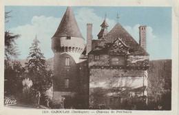 BE18 -(24) CAZOULES  - CHATEAU DE  FON' HAUTE   -  CARTE COLORISEE  -  2 SCANS - Sonstige Gemeinden