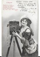L'objectif (femme Photographe) (Bergeret) - Bergeret