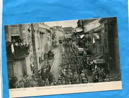 MORHANGE-Défilé Des Troupes Francaises  18 Nov 1918-*beau Plan Animé-  édit-Bergeret - Morhange