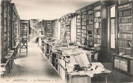 80 Abbeville La Bibliotheque Cachet Convoyeur Ambulant Abbeville  1911 - Abbeville