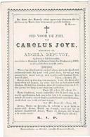 LICHTERVELDE - Carolus JOYE  +1869 - Wedn. Angela DEPUYDT - Devotion Images