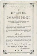 LICHTERVELDE / IEPER - Charlotte DECOCK +1869 - Devotion Images