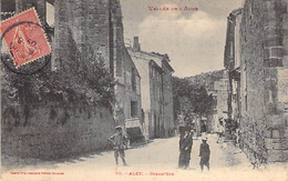 11 - ALET : Grand'Rue ( Animation ) CPA Village ( 440 Habitants) - Aube - Other Municipalities