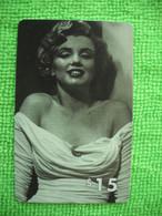 7164 Télécarte Collection MARYLIN MONROE  Cinéma Utilisée Used   1000 Ex     ( Recto Verso)  Carte Téléphonique - Cinema