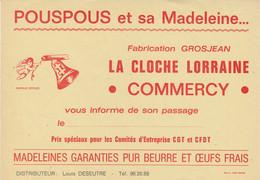 Grosjean , Pouspous Et Sa Madeleine La Cloche Lorraine à Commercy , Meuse - Pubblicitari
