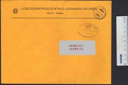 Italia Crema Cremona 1995 Franchigia Liceo Scientifico Leonardo Da Vinci POSTAGE FREE Scientific High School LET00084 - 1991-00: Marcophilia