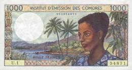 COMOROS P.  8a 1000 F 1976 UNC (s. 4) - Comoros