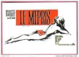 Carte Postale : Le Mépris (Brigitte Bardot - Jean-Luc Godard) - Illustration Okley (O'kley) (affiche, Film, Cinéma) - Posters Op Kaarten