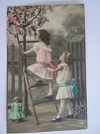 Cpa Meisjes Bloesems Pop Fillettes Poupée Arbre En Fleurs Gelopen 1913 Edit RPH 3363/6 Plie Plooi - Games & Toys