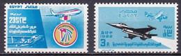 EG480 – EGYPTE – EGYPT – 1982 – EGYPT AIR & AIR FORCE ANNIVERSARIES – Y&T 1177-1190 MNH - Luchtpost