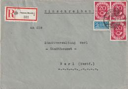 R - Brief Bund Hamm Vom 14.5.1952 Posthorn Mehrfachfrankatur - Zonder Classificatie