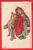 LITTLE RED RIDING HOOD  AND  WOLF    Pu 1908   N URSERY RHYME   NESTLE ADVERT PUBLICITE - Reclame