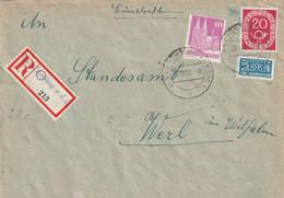 R - Brief Bund Bad Homburg Not R Zettel Vom 20.12.1951 - Zonder Classificatie