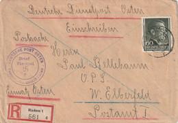 Toller R - Brief Deutsches Reich Generalgouvernement Radom 17.10.1943 Telegraphenbaubezirk Deutsche Post Osten - Zonder Classificatie