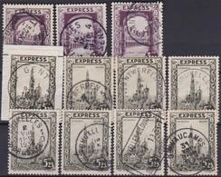 Belgie  .   OBP  .    11  Zegels    .   O   .      Gebruikt  .    /  .   Oblitéré - Used Stamps