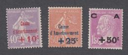 France - Caisse D'amortissement N°249 à 251** Neufs Sans Charnières - Cote Yvert : 235 Euros - 1928 - TB - Sinking Fund
