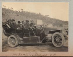 Miramar 1919 Automobile Autobus Photo 38x61mm Collée Sur Carton Femme - Cars