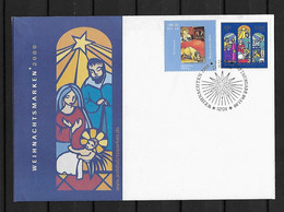 2000 Joint/Gemeinschaftsausgabe Germany And Spain,, SPECIAL FDC GERMANY 2 STAMPS: Christmas 2000 - Emissioni Congiunte