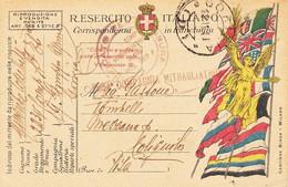 ** CARTOLINA POSTALE - IN FRANCHIGIA.- ** - Guerra 1914-18