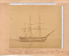 Foto 1876 REGIA MARINA - Nave Da Guerra Regia Piro-Fregata Vittorio Emanuele - Crociera A Filadelfia - War, Military
