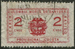 Colombia 1927 CUCUTA Correo Rápido NORTE SANTANDER Private Carrier Local Post Poste Privée Colombie Kolumbien Privatpost - Colombia