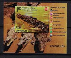 CUBA 2020. HB COCODRILOS. MNH. CROCODRILES - Nuevos