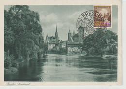 Breslau 31.7.36, SST Deutsches Turn U. Sportfest, AK Breslau - Lettres & Documents