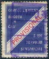 Colombia 1927 Correo Expreso Ribon BOGOTA-CALI 6c Private Carrier Local Post Poste Privée Colombie Kolumbien Privatpost - Colombia