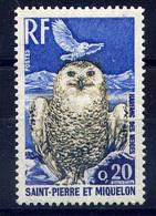 SPM - 427** - HARFANG DES NEIGES - Unused Stamps