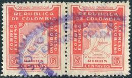 Colombia 1931 Correo Expreso Ribon BOGOTA-CALI 6c Private Carrier Local Post Poste Privée Colombie Kolumbien Privatpost - Colombia