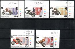 Isle Of Man 550 - 554 Mnh ** Auto Car Voiture Motorrad Motorcycle Eckrand - Man (Ile De)