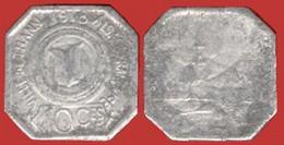 ** JETON  1918  -  10 Ct.  VILLE  De  THANN ** - Monetary / Of Necessity
