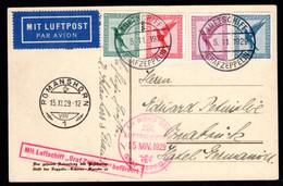 DEUTSCHES REICH, 1929 Zeppelinfahrt Bodensee-Schweiz - Cartas