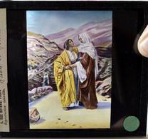 Plaque De Verre Lanterne Magique - Ruth Et Noémi - Ancien Testament - Ed. Maison De La Bonne Presse TBE TBE - Glasdias
