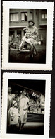 2 Photos Originales - Snapshot - Bredene S/ Mer - Cuistax - Apotheek / Pharmacie - Voir Scans - Lugares