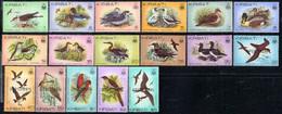 KIRIBATI (1982) Birds. Set Of 17 Overprinted SPECIMEN. Scott Nos 384-99, Yvert Nos 62-81. - Kiribati (1979-...)
