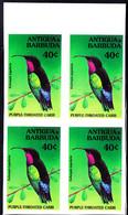 ANTIGUA (1994) Purple-throated Carib (Eulampis Jugularis). Imperforate Block Of 4. Scott No 1850. - Antigua And Barbuda (1981-...)