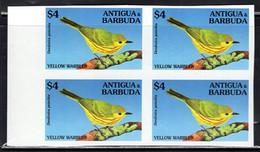 ANTIGUA (1994) Yellow Warbler (Dendroica Petechia). Imperforate Block Of 4. Scott No 1854. - Antigua And Barbuda (1981-...)