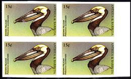 ANTIGUA (1998) Brown Pelican (Pelicanus Occidentalis). Imperforate Block Of 4. Scott No 2204. - Antigua And Barbuda (1981-...)
